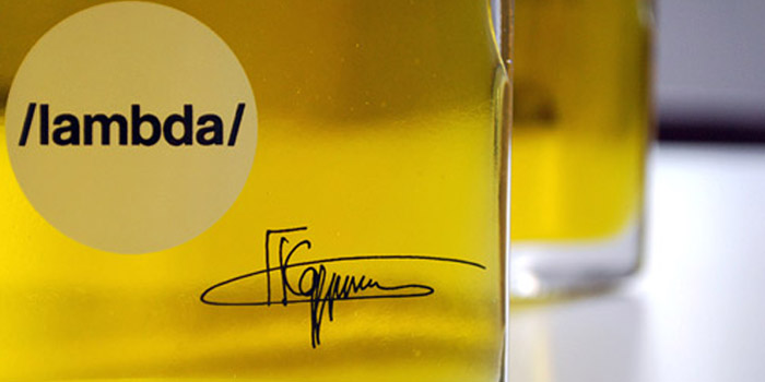 Lambda ultra premium extra virgin olive oil. It has been called the first luxury olive oil.