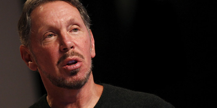 Larry Ellison - world's eighth richest man: US$43.7 billion (as of December 31, 2013. Bloomberg Billionaires).