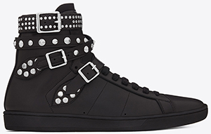 Yves Saint Laurent Signature Court Classic SL/16H High Top Men's Sneaker in Black Leather: US$995.