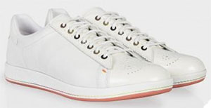 Paul Smith White Leather Rabbit Women's Trainers: US$275.