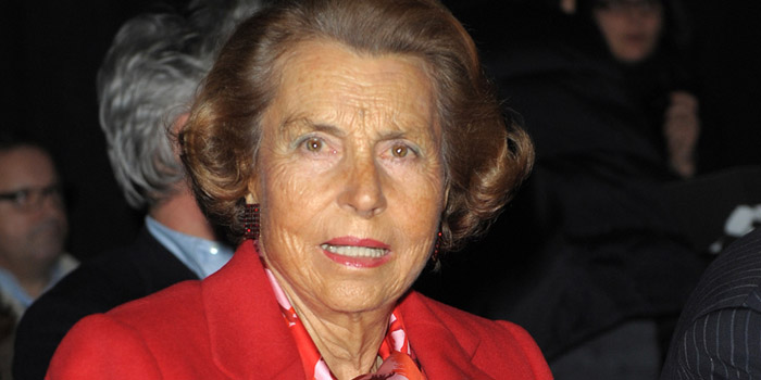 Liliane Bettencourt - world's third richest woman, and 15th richest person in the world: US$34.1 billion (as of December 31, 2013. Bloomberg Billionaires).