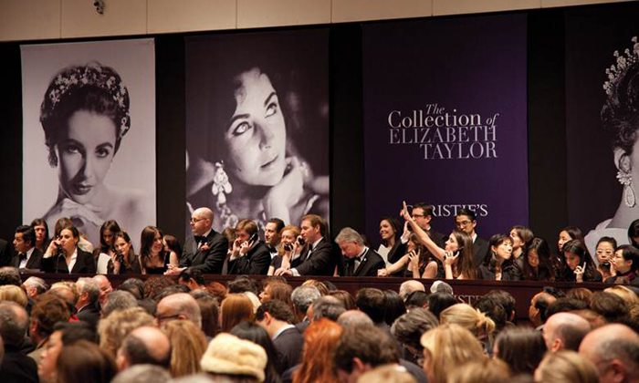 The landmark auctions of The Collection of Elizabeth Taylor at Christie's New York from December 3-17, 2011 realized a combined total of more than US$156.75 million.