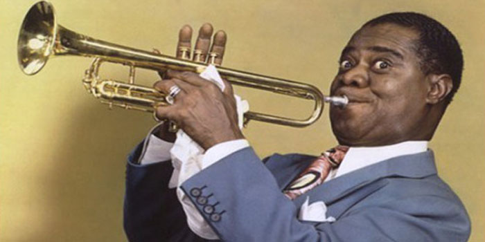 Louis Armstrong (1901-1971).