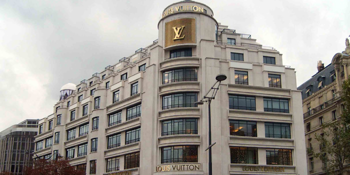 Louis Vuitton's flagship store - 101, avenue des Champs-Élysées, 75008 Paris, France.