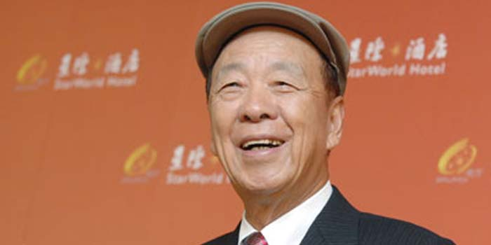 Lui Che Woo - world's 23rd richest person: US$26.1 billion (as of December 31, 2013. Bloomberg Billionaires).