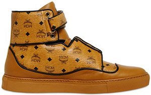 MCM Nappa Leather High Top Men's Sneaker.