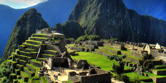 Machu Picchu, located in the Cusco Region of Peru.