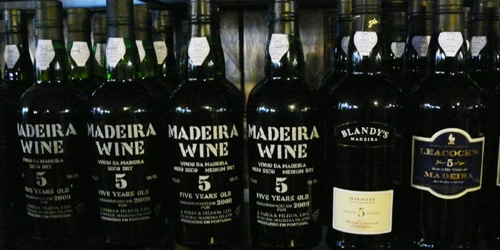 A selection of madeira wine.