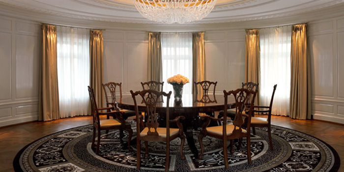 The conference room of the Maestro Suite at The Dolder Grand, Kurhausstrasse 65, 8032 Zurich, Switzerland.