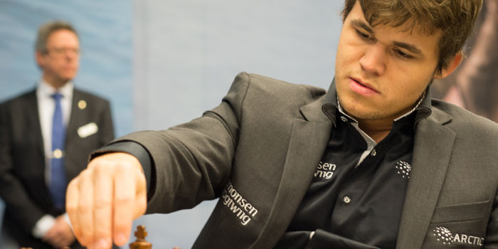 Magnus Carlsen (1990-) - 'The Mozart of Chess.' Norwegian chess grandmaster and former chess prodigy who is the reigning World Chess Champion and No. 1 ranked player in the world. His peak rating is 2872, the highest in history.