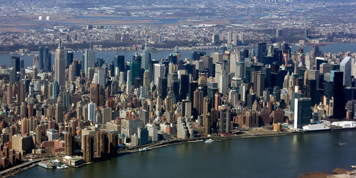 Manhattan is the geographically smallest but most densely populated borough of New York City, State of New York, U.S.A.