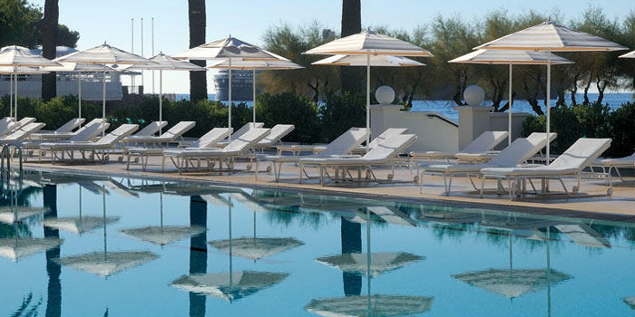 Monte-Carlo Beach Club's olympic-sized swimming pool.