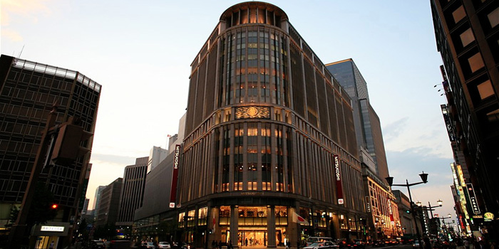 The Mitsukoshi Department Store in the Nihonbashi section of Tokyo, Japan.