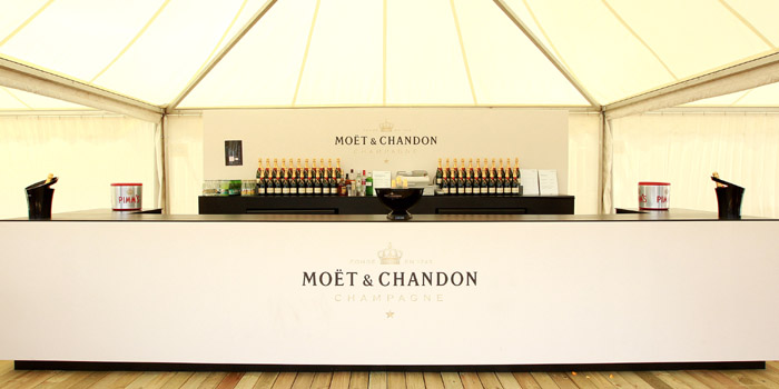Moët & Chandon promotional bar.