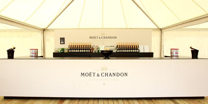 Moët & Chandon promotional bar.