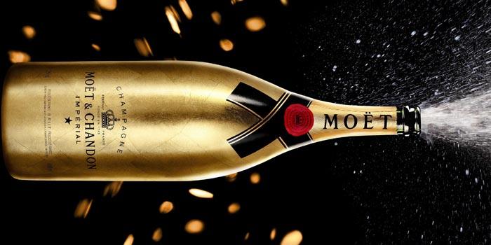 Limited Edition Moët & Chandon Jeroboam Champagne Bottle: US$1,050.