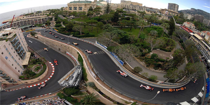 Monaco Grand Prix circuit (Mirabeau haute & bas turns).