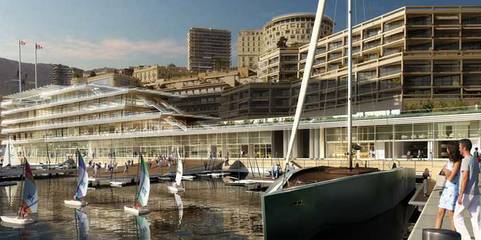 The NEW Lord Norman Foster-designed clubhouse for the Yacht Club de Monaco. Opens in 2014.
