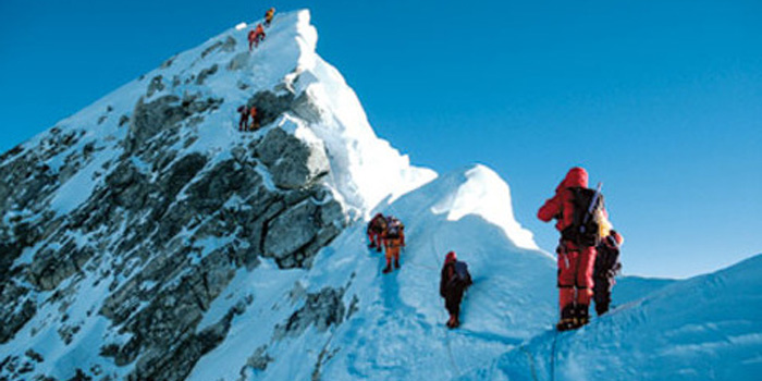 Mountaineering at Mount Everest.