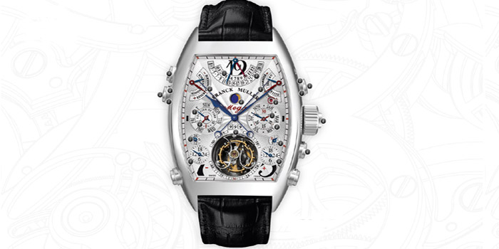 Franck Muller Aeternitas Mega 4 watch. The most complicated wrist watch ever made in the world: 36 complications, 1483 components, 99 jewels. Price: US$2,700,000.