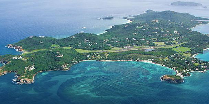 Mustique Island, Saint Vincent and the Grenadines, West Indies.