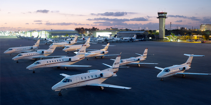NetJets private business jet fleet.