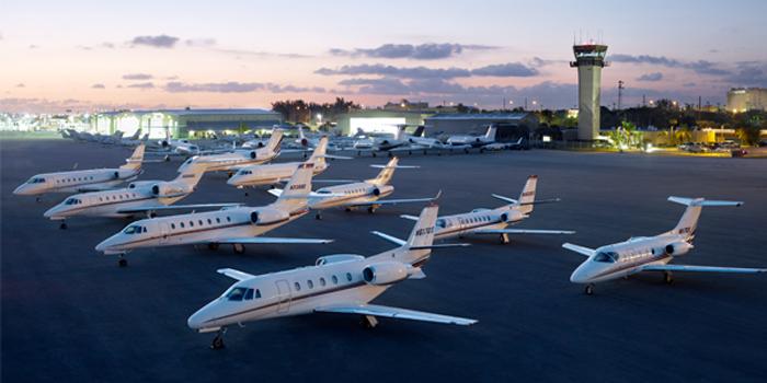 NetJets private business jet fleet.