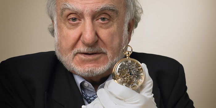 Nicolas G. Hayek of Breguet unveils its Marie-Antoinette Grande Complication pocket watch number 1160 in april 2008.