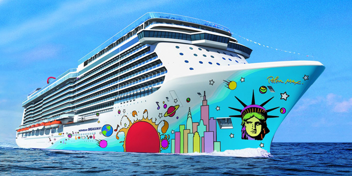 Norwegian Breakaway is a cruise ship operated by Norwegian Cruise Line. It is the eighth largest cruise ship in the world. She is 146,600 GT in size, and has capacity for 4,000 passengers, double occupancy. The ship has a total of 1,024 staterooms and 238 suites.