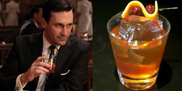 The Old Fashioned is the cocktail of choice of Don Draper, the lead character on the Mad Men television series.
