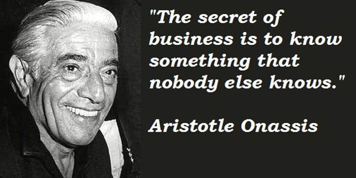 Aristotle Onassis (1906-1975), commonly called Ari, was a prominent Greek shipping magnate, billionaire and bon vivant.