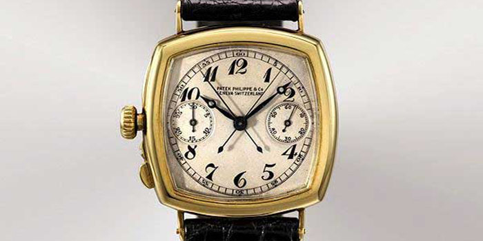 Patek Philippe The Grogan (1925) Gold Chronograph Watch. One of the first watches made for a lefty. Price: US$1,945,040.