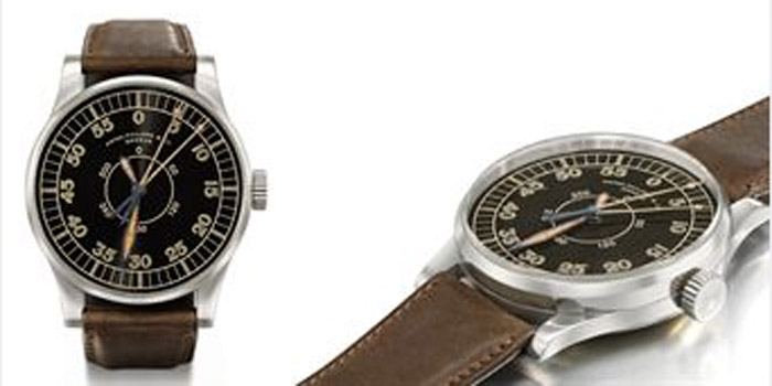 Patek Philippe Pilot Watch, 1936 model. Sold for over US$1,710,690 at Christie's in Geneva on May 11, 2009.