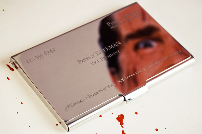Patrick Bateman business card holder | American Psycho 'style' card case.