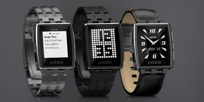Pebble Steel iPhone & Android smartwatch.