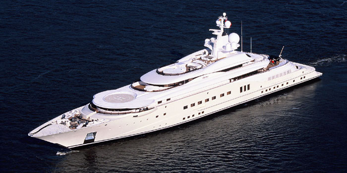 Pelorus - the world's 21st largest yacht: 377 ft / 115 m / US$160 mio.