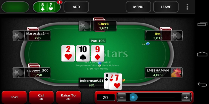 Poker Stars - the largest online poker cardroom in the world.