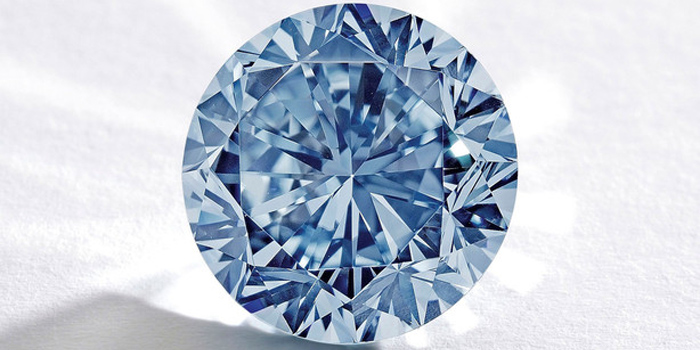 The Premier Blue - 7.59 carat round brilliant-cut internally flawless (IF) fancy vivid blue diamond.