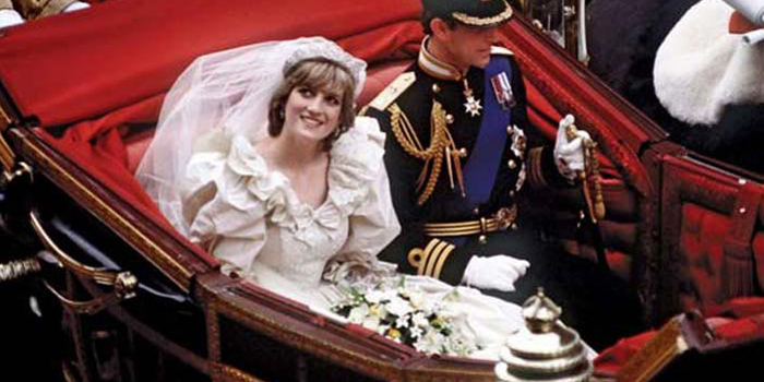 Princess Diana on her wedding day July 29, 1981.