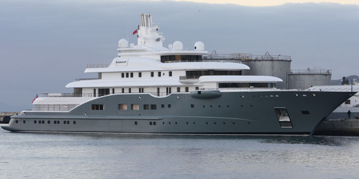 Radiant - the world's 24th largest yacht: 361 ft / 110 m.
