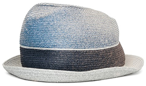 Replay Unisex paper straw fedora with degradé appeal: US$98.