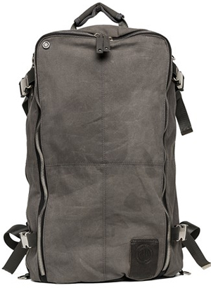 Replay Men's waxed cotton rucksack (L30 X H49 X D19 cm) with zip closures: US$220.