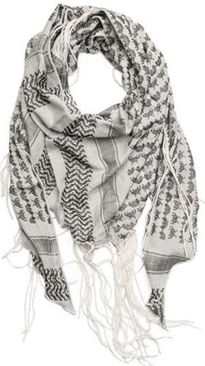 Replay Women's cotton jacquard scarf: US$85.