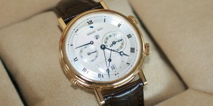 Breguet 'Le Réveil du Tsar' Classique alarm wristwatch in 18-carat yellow gold.