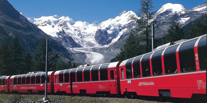 The Rhaetian Railway between Thusis and Poschiavo is a marvel of railway engineering. Railway enthusiasts assert that the Albula route between Chur and St. Moritz is the most picturesque mountain route in the world.