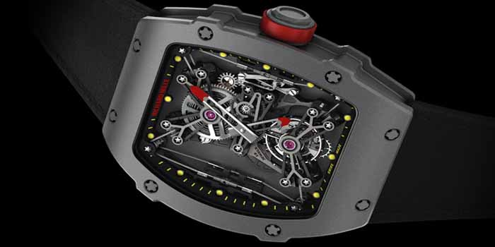 Richard Mille RM 27-01 Raphael Nadal. Limited edition of 50 timepieces. Weight: just 19 g. Price: US$690,000.