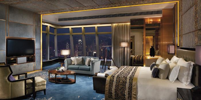 The Ritz-Carlton Suite at the Ritz-Carlton hotel, International Commerce Centre, 1 Austin Road West, Kowloon, Hong Kong.