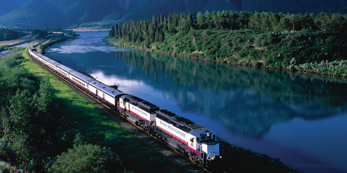 Rocky Mountaineer - 'World's Leading Travel Experience by Train'.