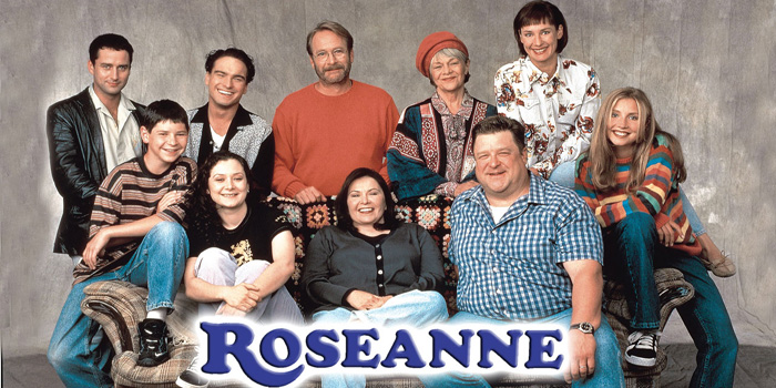 Roseanne - American sitcom that was broadcast on ABC from October 18, 1988 to May 20, 1997. Starring Roseanne Barr, the show revolved around the Conners, an Illinois working-class family. The series reached #1 in the Nielsen ratings becoming the most watched television show in the United States from 1989 to 1990, and remained in the top four for six of its nine seasons, and in the top twenty for eight seasons.