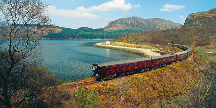 The Royal Scotsman is a Scottish luxury charter train run by Orient-Express Hotels Ltd. The train is composed of nine cars; two dining cars, five state cars, one crew car, and one observation car.